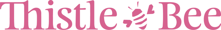 T_B Logo with Bee_Pink